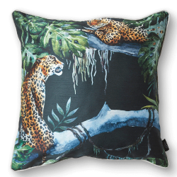 CUSHION COVER CHEETAH 50X50 BLACK