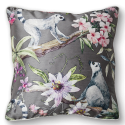 CUSHION COVER LEMUR 50X50 GREY