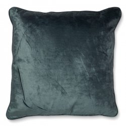 CUSHION COVER 50×50 VELVET/LINEN STORMY WEATHER